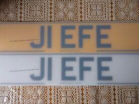 Private registration Jeff, J1EFE, jeffrey, reads J1 EFE