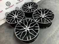"""BRAND NEW 19"""" 20"""" AUDI R8 STYLE ALLOY WHEELS - GLOSS BLACK ALSO AVAILABLE WITH TYRES-"""