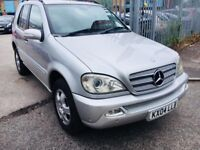 MERCEDES ML 270 CDI DIESEL AUTOMATIC 2004 LEATHER SEATS SILVER