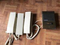 Fermax door security phone kit, includes power supply and 3 door phones