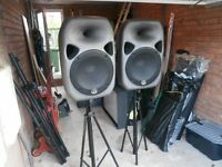 TWO HEAVY DUTY SPEAKER STANDS.