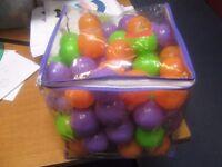 assorted bag of coloured balls