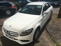 White Mercedes 2015 C220 Diesel Automatic