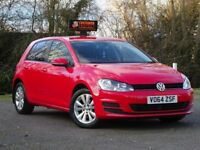 Volkswagen Golf 1.6 TDI BlueMotion Tech SE Hatchback 5dr (start/stop) F/S/H+BLUETOOTH+£0 ROAD TAX