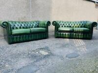Green Leather Chesterfield Furniture
