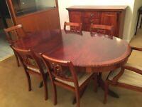 Mahogany fine dining room furniture