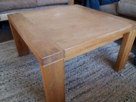 Solid oak Sterling Furniture coffee table
