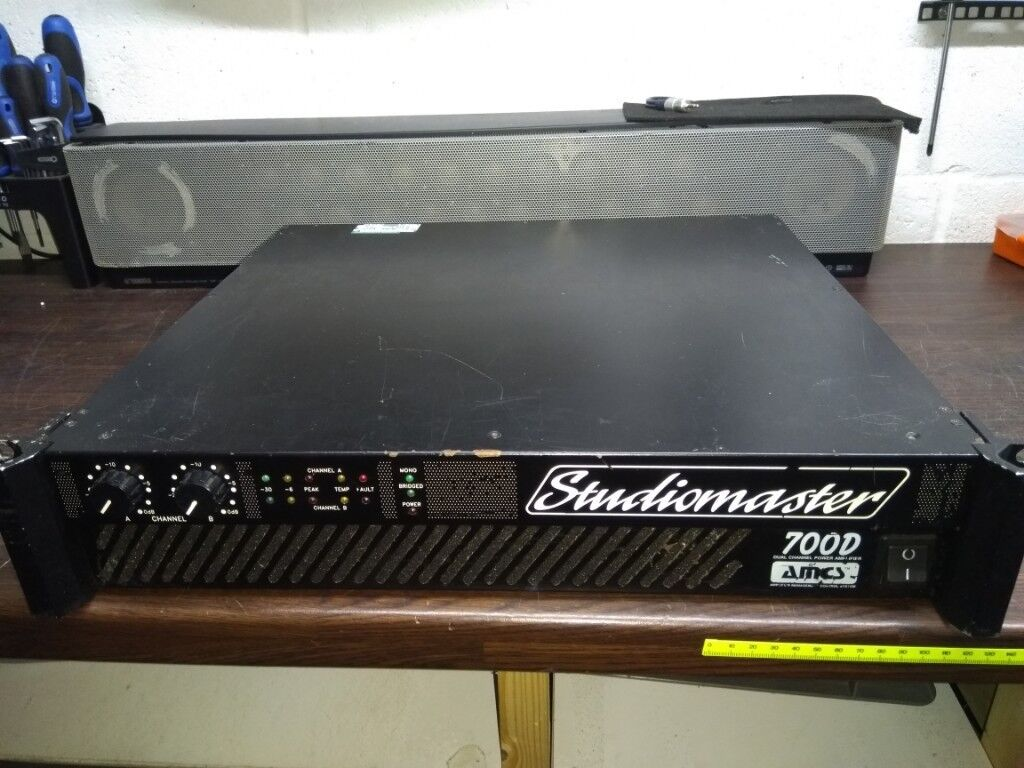 45w Power Amplifier Include Tone Control Studiomaster 700d