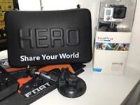 Gopro hero 3 16gb memory card and a lot of accessories