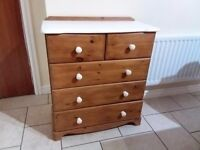 Pine chest of draws