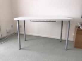 Linnmon white computer/office desk