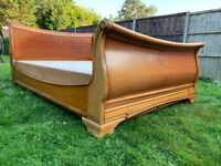 Gorgeous French Louie Sleigh 4ft Double Size Bed Frame & Divan Base – Great Condition