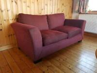 Lovely Sofa Bed in Dark Red Fabric