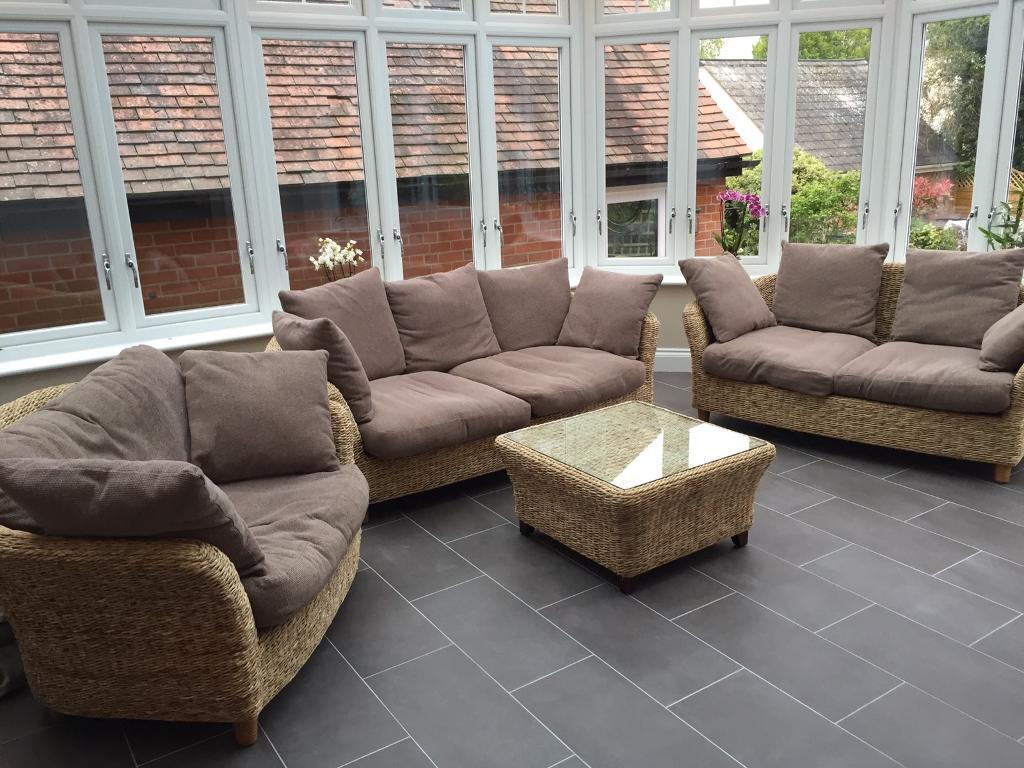 Small conservatory sofas for Cane furniture ideas