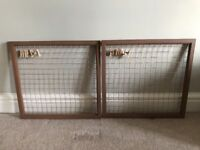 2x copper/brown wire notice boards with mini pegs