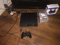 PS3 with nine games and a headset