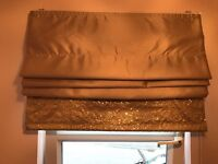 Next Gold With Sequin Band Roman Blind