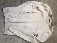 Mens next light grey knitwear jumper size xs