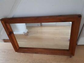 Lovely vintage pine mirror
