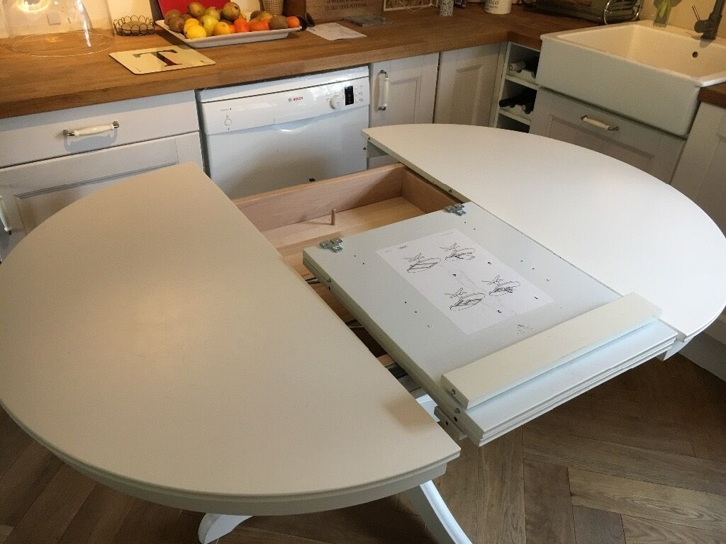 Ikea Ingatorp White Round Extendable Table In Pewsey Wiltshire Gumtree