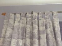 Long Curtains to frame your window made with Laura Ashley cotton voile.