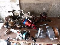 Selection of fishing reels