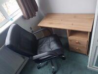 Office Chair & Desk
