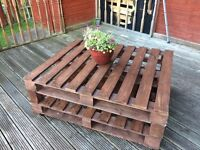 Recycled pallet garden table for sale