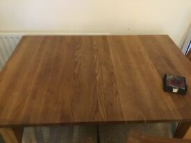 corndell nimbus solid oak dinning table for 6 extending to 8 seats