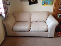 Cream sofa bed, ex DFS. kept in spare bedroom and used as a bed maybe 5 times. £100 ono