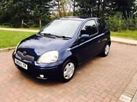 Toyota Yaris blue 1.0 in excellent condition throughout 1 years mot 2 lady owners low mileage