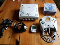 Sega Dreamcast with 4 games