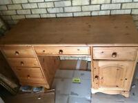 Solid Oak Wooden Desk