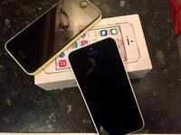 2 IPHONE 5c UNLOCKED 16g . GREAT CONDITION.....