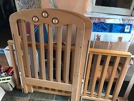 Baby wooden cot