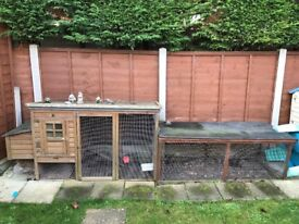 Chicken coop and extension, used for housing 3 large chickens. Collection only