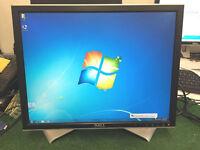 "Dell LCD display computer monitor 20"" screen 1600x1200"