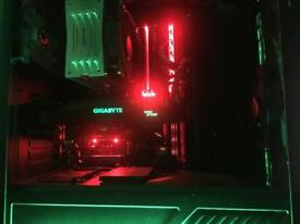 Nvidia GTX 1070, intel i5 6700k 4.5Ghz, 16GB RAM, 1TB HDD, LED case, 2 monitors, keyboard and mouse