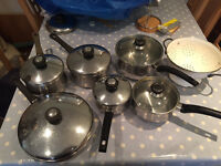 4 x Used Meyer and other Pots and Pans