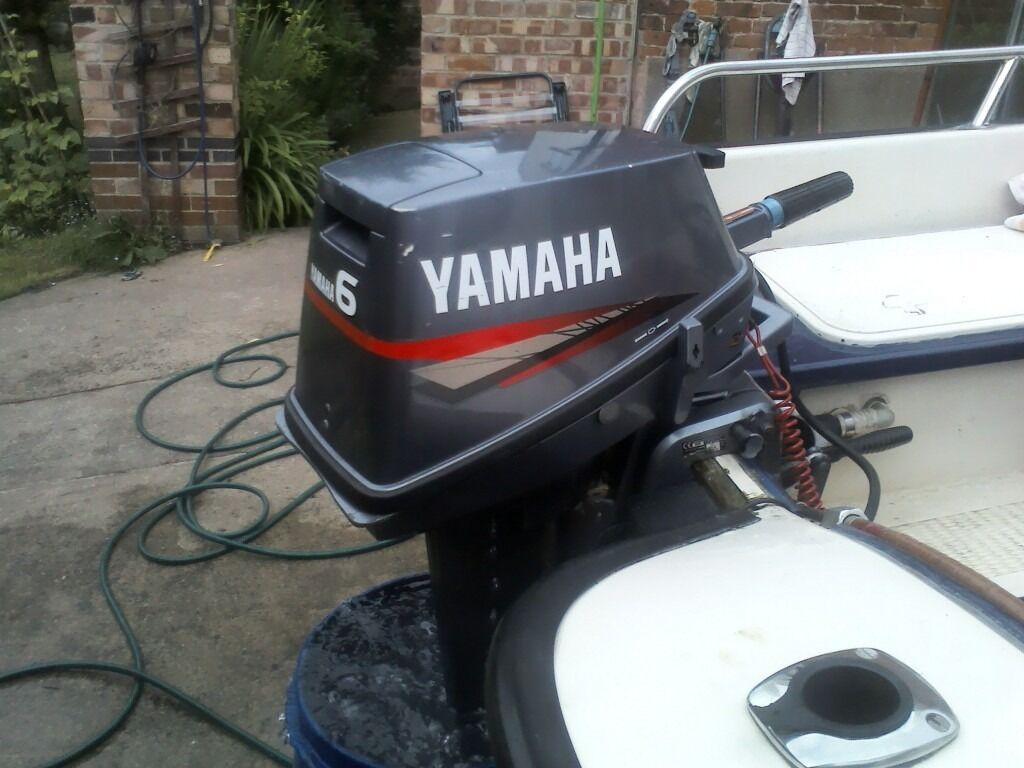Yamaha 6hp outboard motor 2006 less than 10 hours use for Yamaha 6hp outboard motor