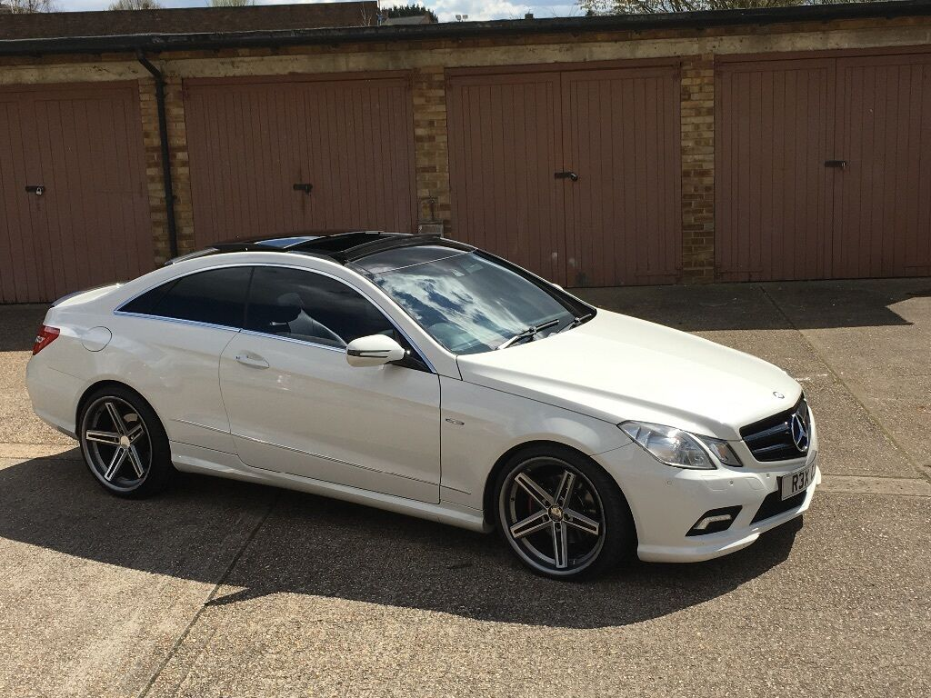 mercedes benz e class coupe white panoramic in stratford