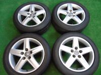 "AUDI A4, A6, VW SHARAN, PASSAT, GOLF MK5, TOURAN, CADDY, T4, 17"" ALLOY WHEELS"