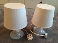 Ikea plastic table lamps