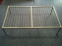 Diagonal Grey Metal Mesh Display Tables, Used for Pram Display