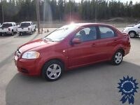 Red 2007 Chevrolet Aveo Front Wheel Drive Sedan - 75,597 KMs