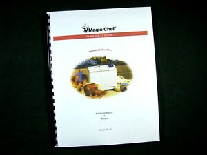 Magic Chef Model 250-2 Bread Maker Machine Instruction Manual & Recipes