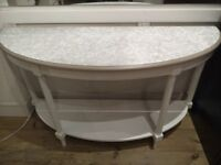 SALE - Lovely Half Moon big Console Table with shelf.
