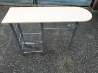 small lightwood metal framed Nail bar / table, delivery available