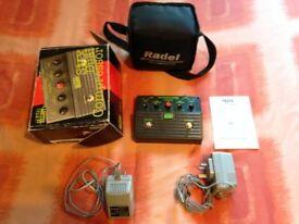Trace Elliott dual compressor, original box and manual, 2 power supply