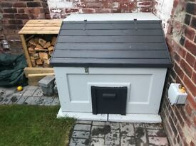 As new and painted concrete coal bunker with base and only 3 month old from new